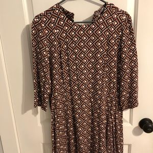 Quarter length sleeve twirl dress